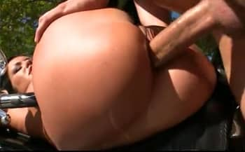 Huge White Cock Fucks The Hungarian Motorcycle Bitch